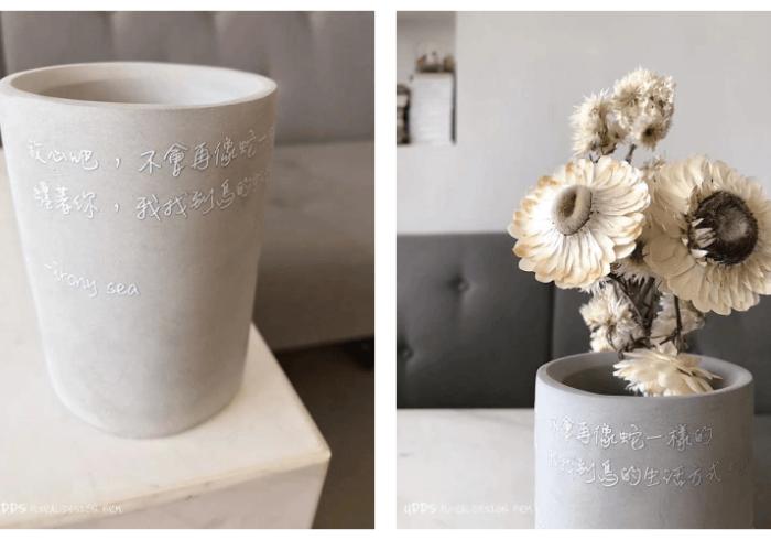 水泥材質盆栽-UV直噴機