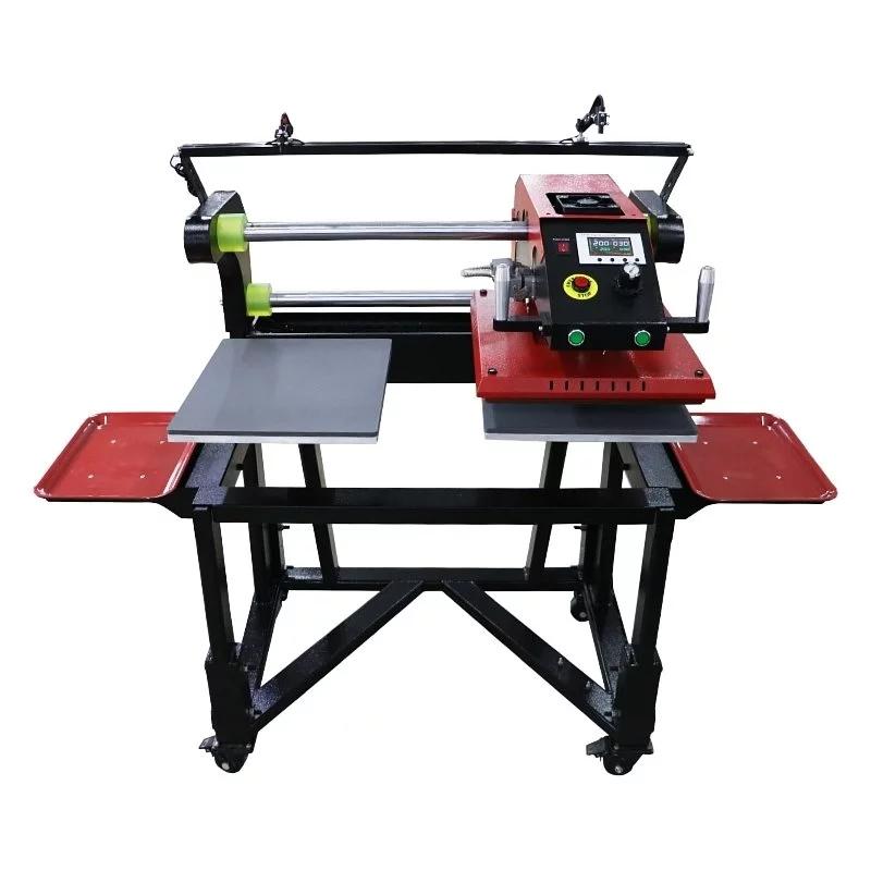氣動雙工位穿梭熱轉印機 帶落地式紅外定位裝置