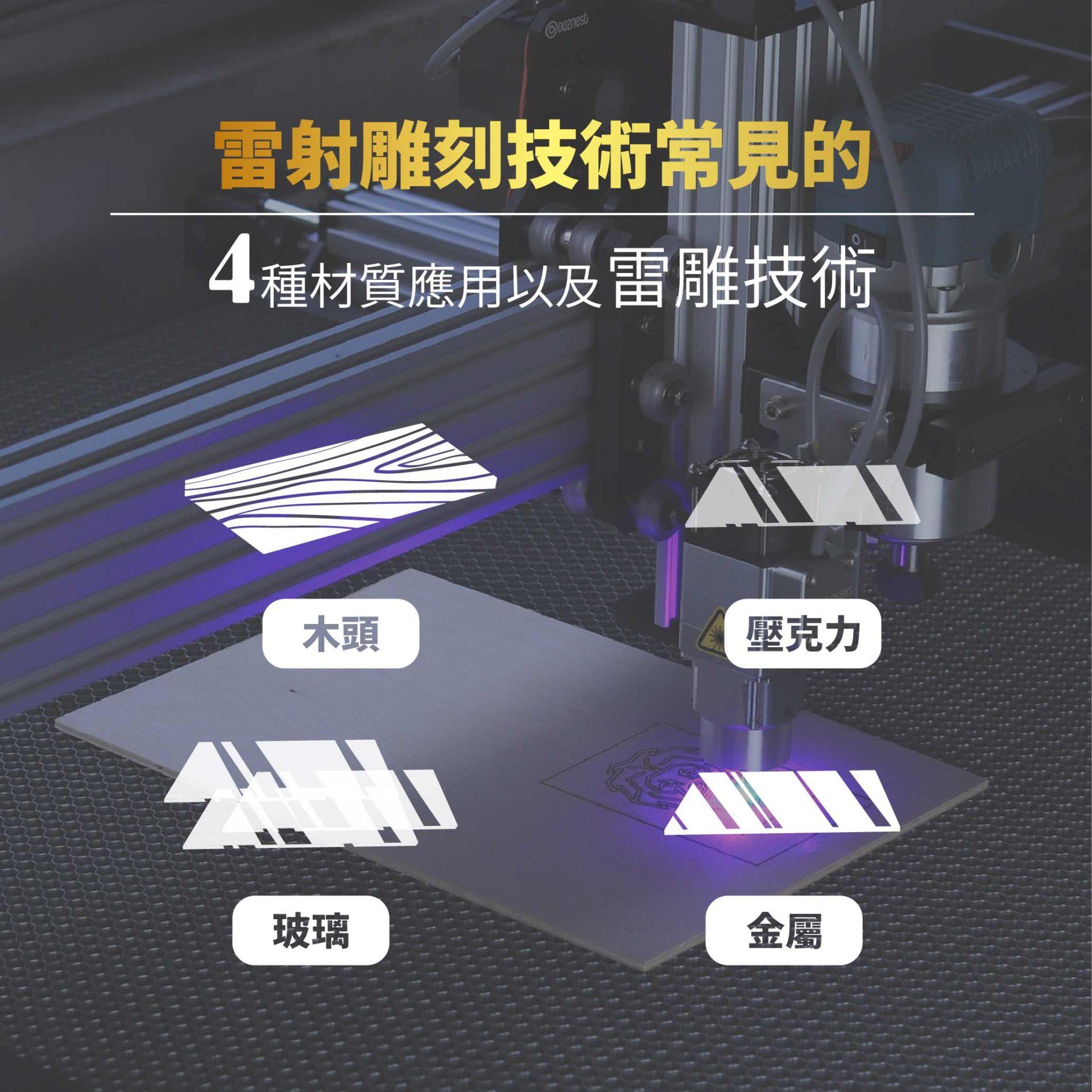 雷射雕刻技術常見的4種材質應用以及雷雕技術