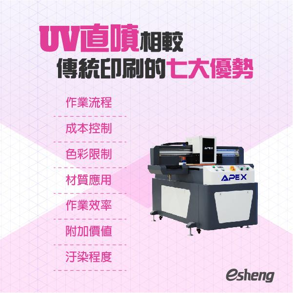 UV直噴相較傳統印刷的七大優勢