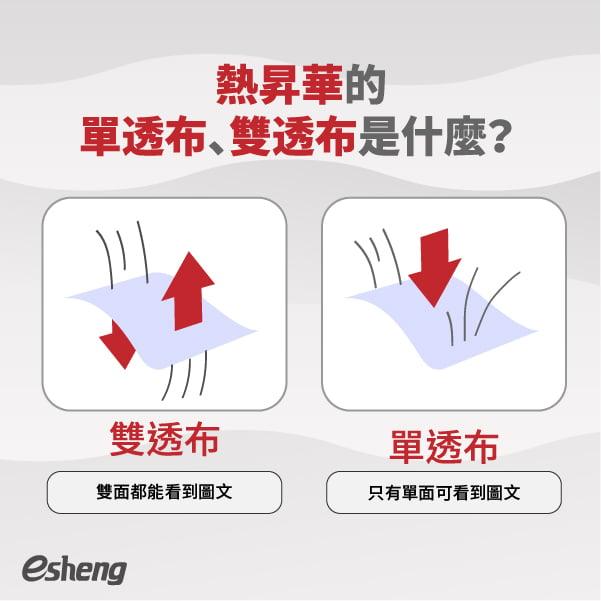 熱昇華的單透布、雙透布是什麼?
