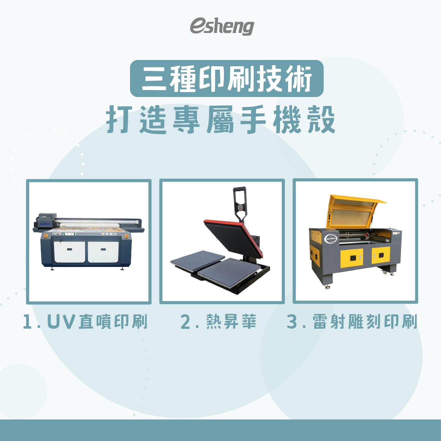 三種印刷技術打造專屬手機殼